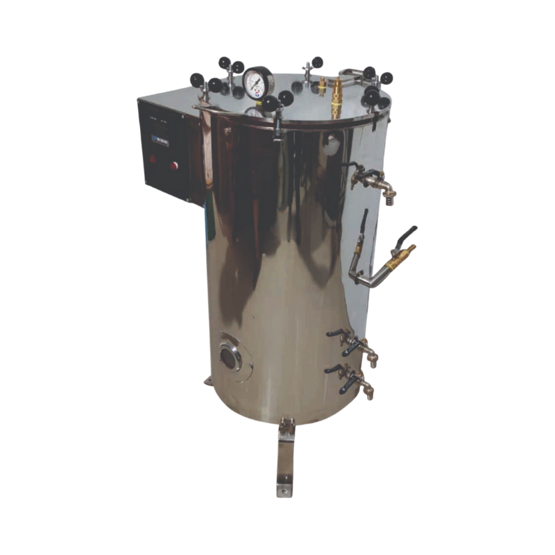 vertical autoclave manufactured by famous brand Thymol India