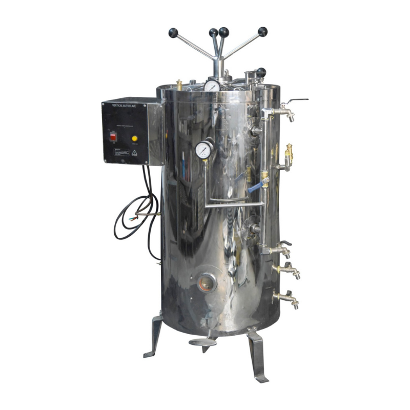 vertical autoclave manufactured by brand Thymol India